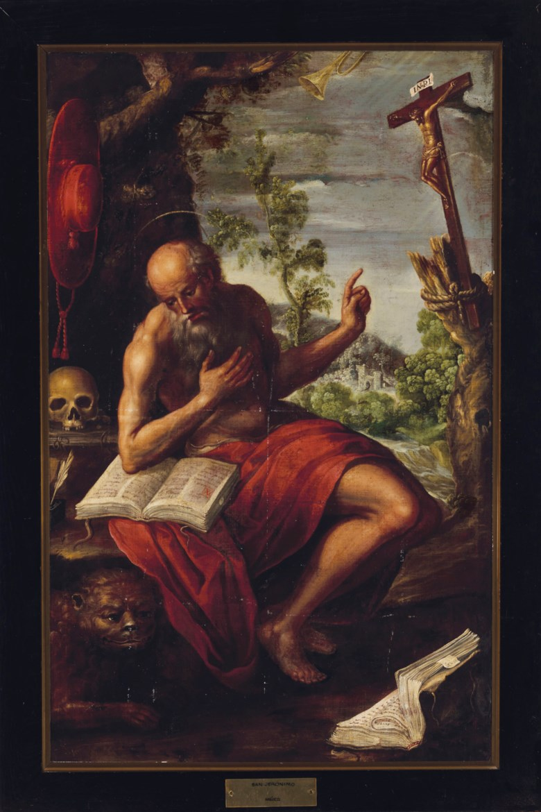 Juan Correa (active 1674-1739), Saint Jerome in the Wilderness. 63 x 39½  in (160 x 100.3  cm). Estimate $30,000-40,000. This lot is offered in Latin American Art on 20-21 November 2018 at Christie's in New York