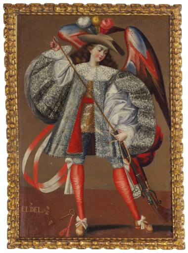Anonymous (Peruvian, 18th century), Archangel Eliel. Oil on canvas. 44¾ x 31¾ in (113.7 x 80.7 cm). Sold for $87,500 on 20-21 November 2018 at Christie's in New York