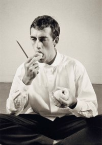 'Forbidden Fruit' (David Wojnarowicz Eating an Apple in an Issey Miyake shirt) from, The Twelve Perfect Christmas Gifts from Dianne B., 1983