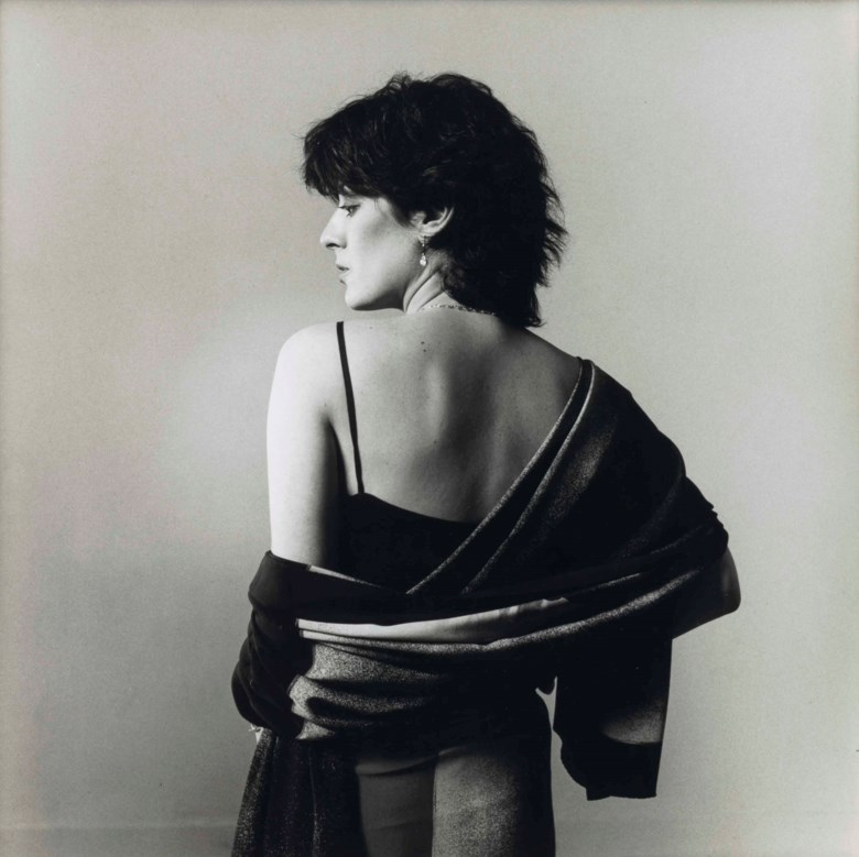 Peter Hujar (1934-1987), Dianne B. in Issey Miyake silks, 1982. Mount 18¾ x 16½  in (47.5 x 41.9  cm). Estimate $8,000-12,000. This lot is offered in Photographs on 6 April 2018  at Christie's in New York