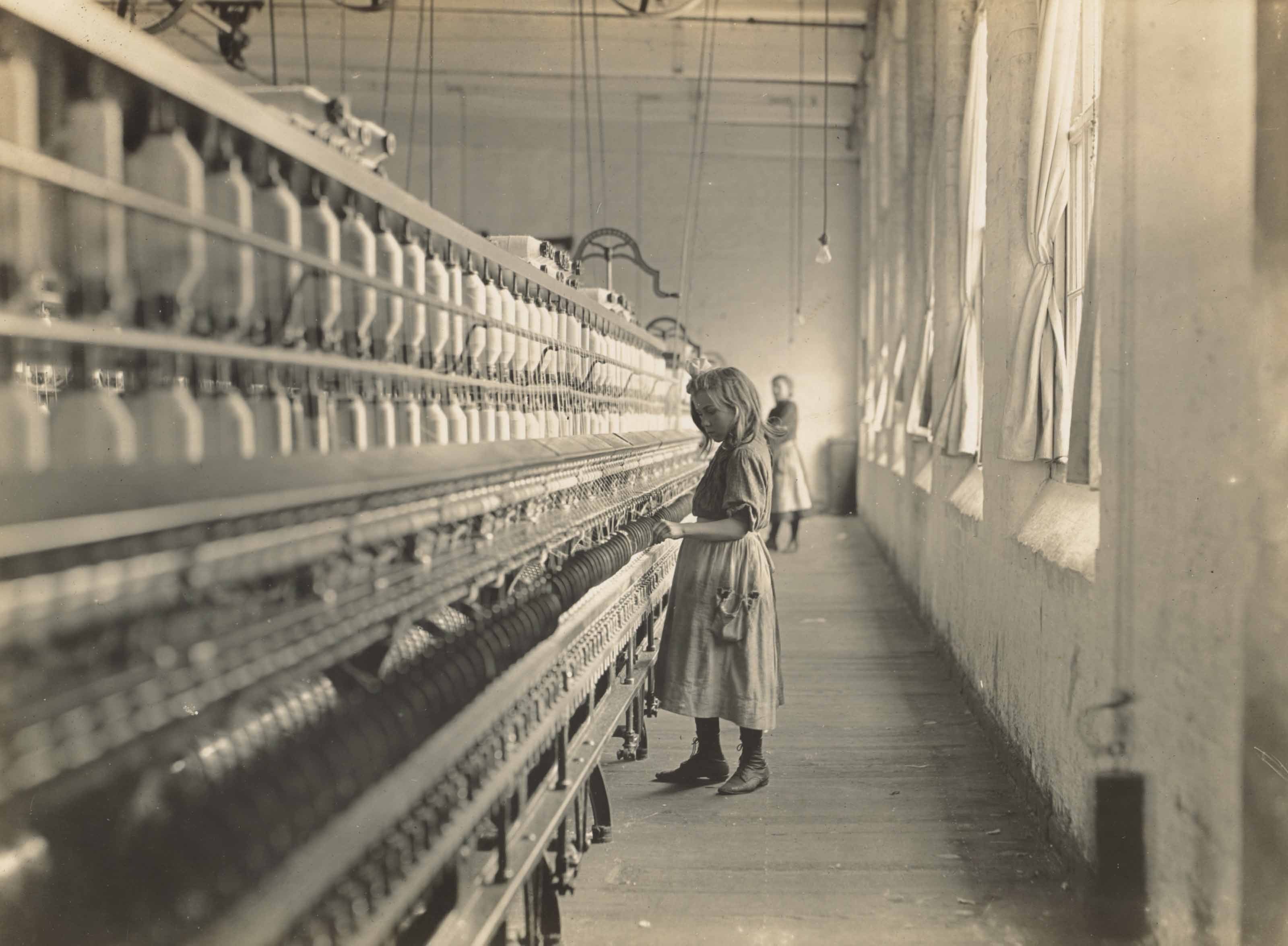 Sadie Pfeifer, a Cotton Mill Spinner, Lancaster, South Carolina, 1908