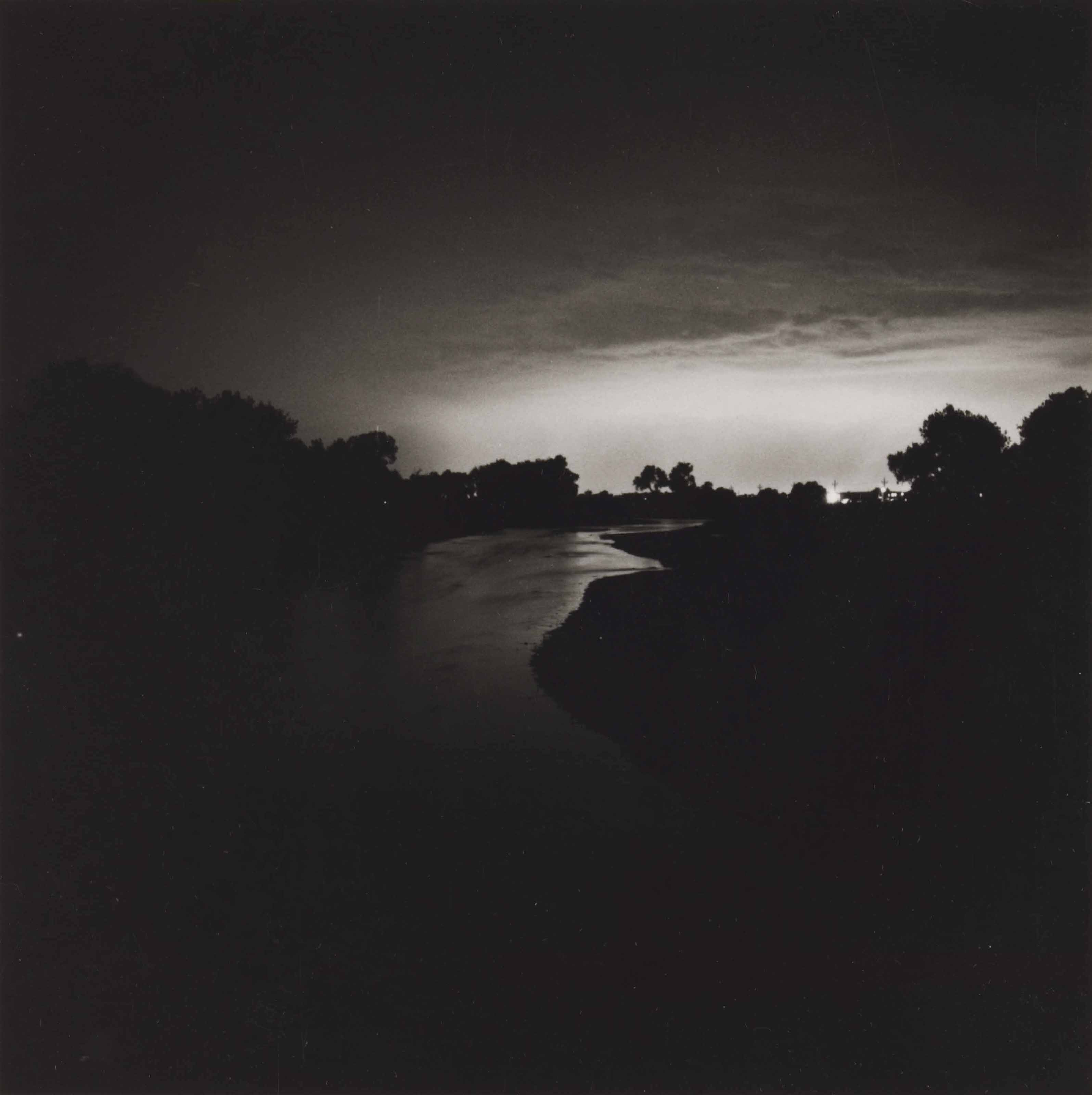 The South Platte River, Looking toward Denver, Colorado, twenty-five miles distant, 1979