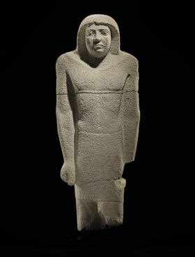 AN EGYPTIAN LIMESTONE STATUE OF SEKHEMANKHPTAH