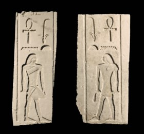 TWO EGYPTIAN LIMESTONE RELIEFS OF NYANKHNESUT