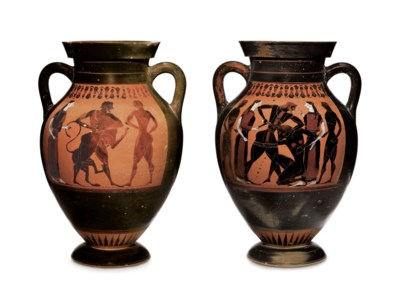 AN ATTIC BLACK-FIGURED AMPHORA