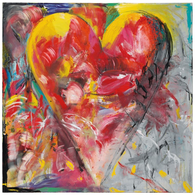 Jim Dine (b. 1935), The Beast, 1999. 48 x 48  in (121.9 x 121.9  cm). Sold for $137,500 on 27 September 2018 at Christie's in New York. Artwork © Jim Dine  ARS, NY and DACS, London 2020