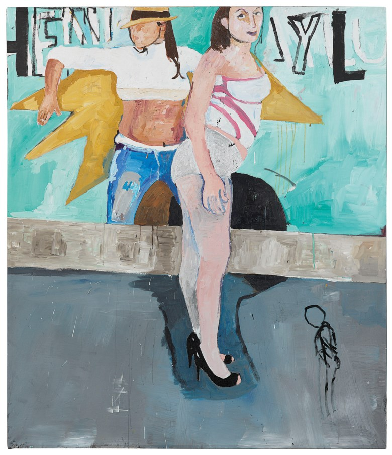 Henry Taylor (b. 1958), Double Up, painted in 2009. 91 ½ x 78 ⅜  in (232.4 x 199.1  cm). Estimate $80,000-120,000. This lot is offered in Post-War to Present on 27 September 2018 at Christie's in New York