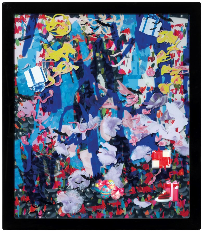 Petra Cortright (b. 1986), buffy keepers+kick.rom, executed in 2015. 54 ½ x 47 ½  in (138.4 x 120.7  cm). Estimate $20,000-30,000. This lot is offered in Post-War to Present on 27 September 2018 at Christie's in New York