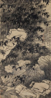Bamboo, Lotus and Rock