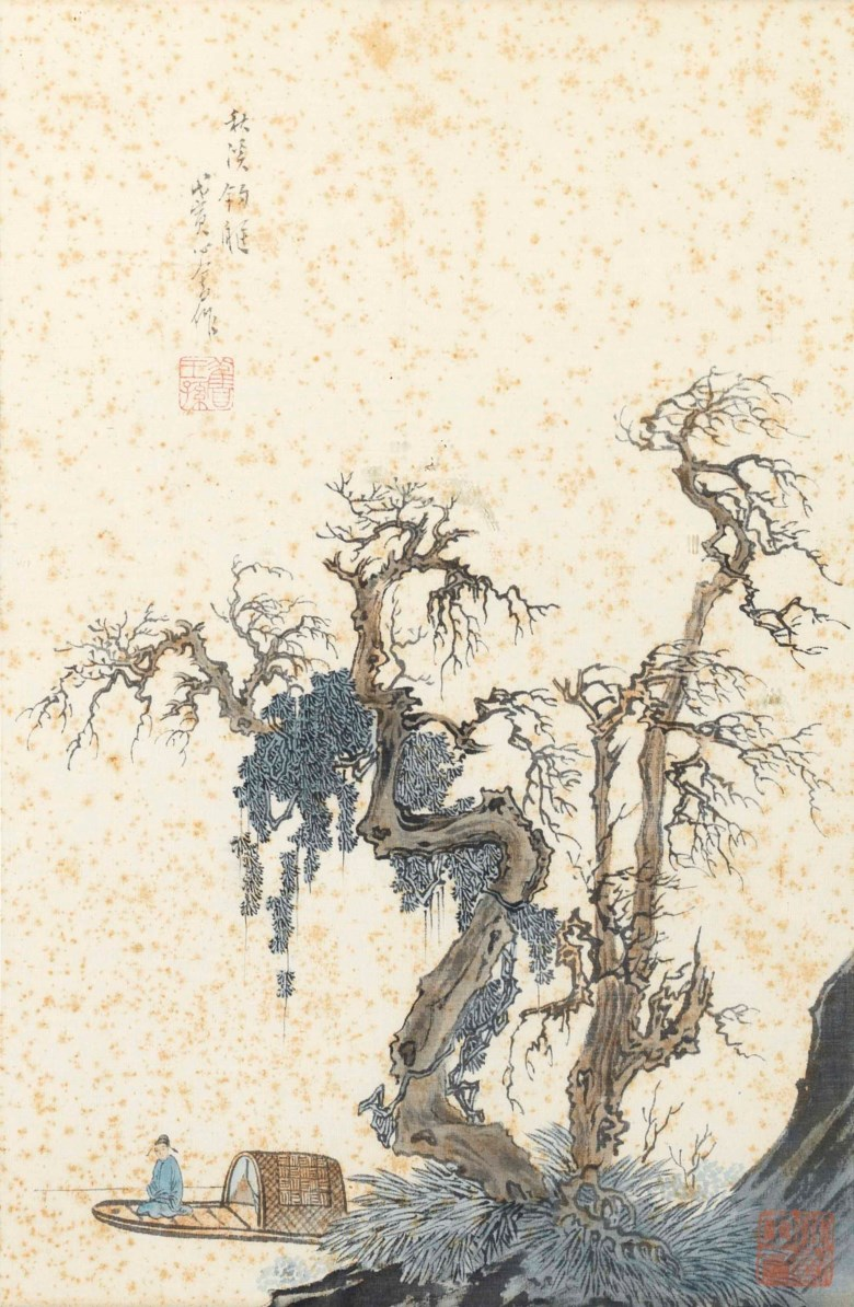 Pu Ru (1896-1963), Scholar in a Boat, dated wuyin year (1938). 13⅜ x 8¾  in (34 x 22.2  cm). Estimate $15,000-30,000. This lot is offered in Fine Chinese Paintings on 20 March 2018  at Christie's in New York