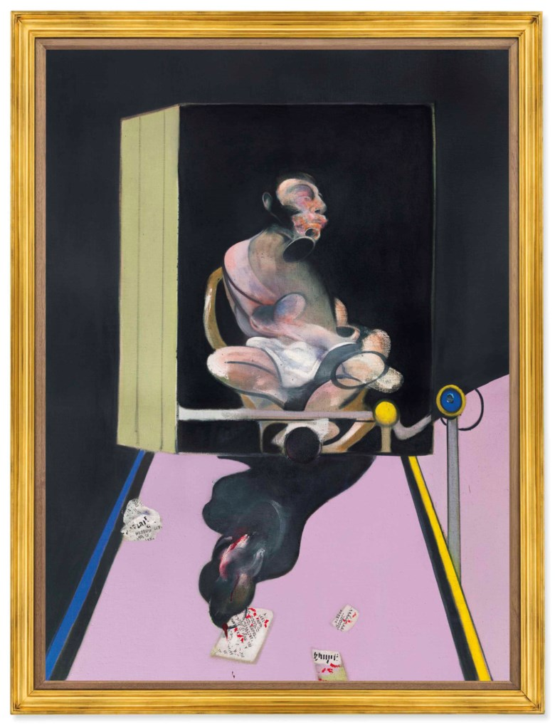 Francis Bacon (1909-1992), Study for Portrait, 1977. 78 x 58⅛ in (198.2 x 147.7 cm). Sold for $49,812,500 in the Post-War and Contemporary Art Evening Sale on 17 May at Christie's in New York © The Estate of Francis Bacon. All rights reserved  DACS, London  ARS, NY 2018