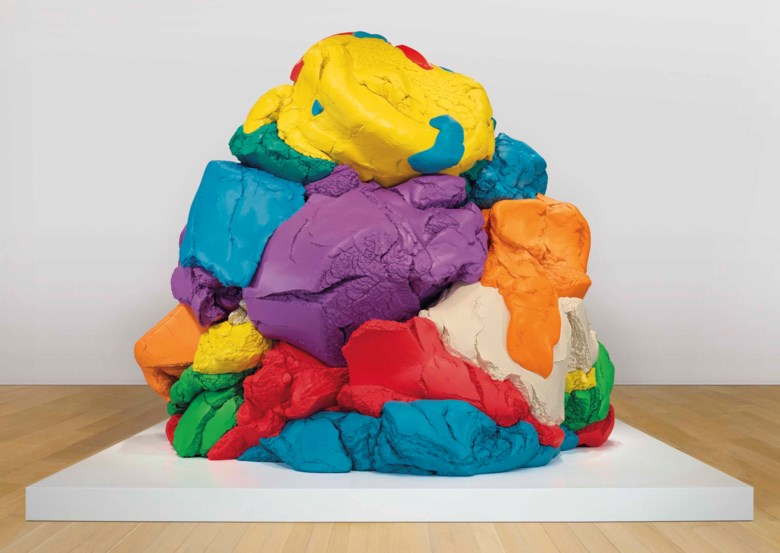 Jeff Koons (b. 1955), Play-Doh, 1994-2014. Polychromed aluminium. 124 x 152¼ x 137 in (315 x 386.7 x 348 cm). This work is one of five unique versions. Sold for $22,812,500 in the Post-War and Contemporary Art Evening Sale on 17 May at Christie's in New York. Artwork © Jeff Koons