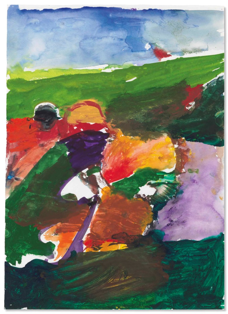 Richard Diebenkorn (1922-1993), Untitled, 1953-1955. 12½ x 9  in (31.8 x 22.9  cm). Estimate $300,000-500,000. Offered in Post-War and Contemporary Art Evening Sale on 17 May at Christie's in New York