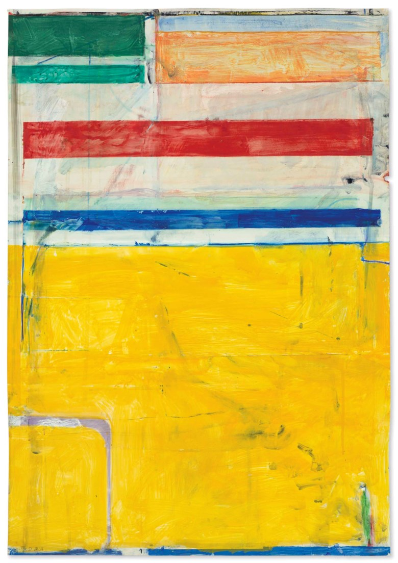 Richard Diebenkorn (1922-1993), Untitled, 1984. 36 x 25  in (91.4 x 63.5  cm). Estimate $2,500,000-3,500,000. Offered in Post-War and Contemporary Art Evening Sale on 17 May at Christie's in New York
