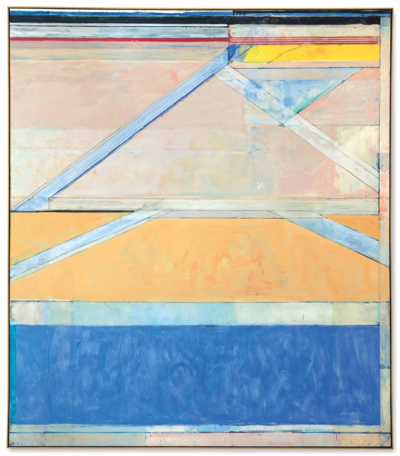 Richard Diebenkorn (1922-1993), Ocean Park #126, 1984. 93 x 81 in (236.2 x 205.7 cm). Sold for $23,937,500 in the Post-War and Contemporary Art Evening Sale on 17 May at Christie's in New York © The Richard Diebenkorn Foundation
