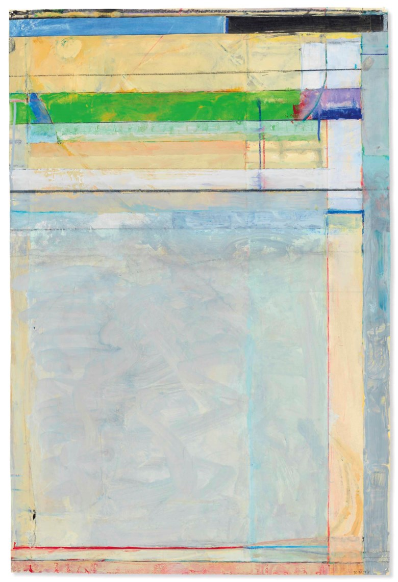Richard Diebenkorn (1922-1993), Untitled, 1991. 37⅜ x 25  in (94.9 x 63.5  cm). Estimate $2,200,000-3,000,000. Offered in Post-War and Contemporary Art Evening Sale on 17 May at Christie's in New York