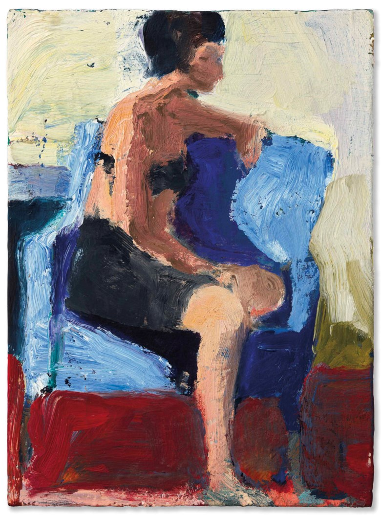 Richard Diebenkorn (1922-1993), Untitled, 1957-1962. 14 x 10¼  in (35.6 x 26  cm). Estimate $400,000-600,000. Offered in Post-War and Contemporary Art Evening Sale on 17 May at Christie's in New York