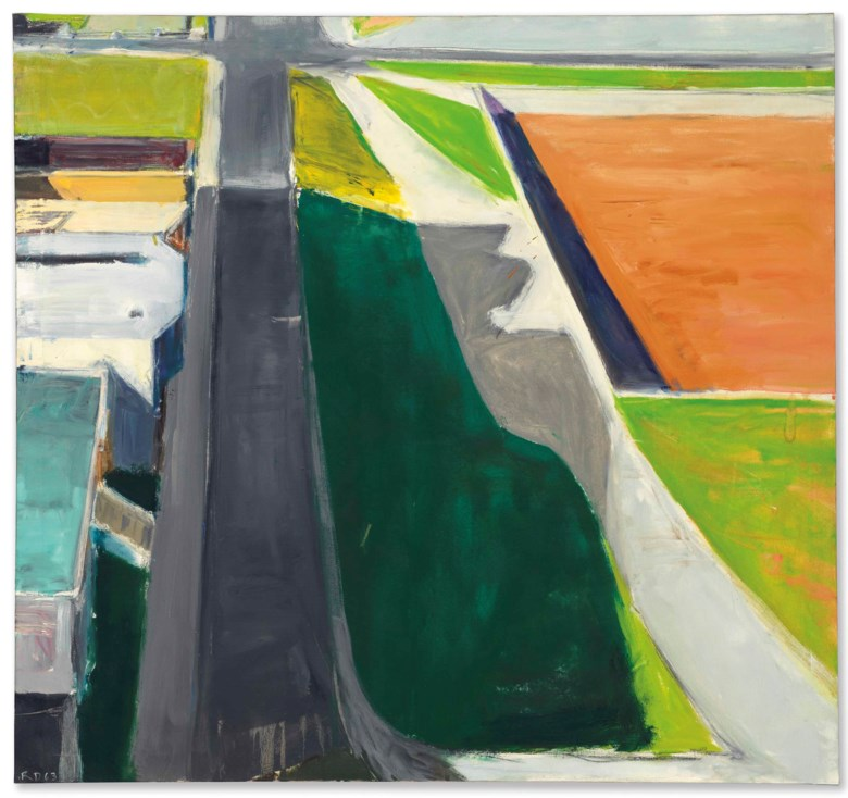 Richard Diebenkorn (1922-1993), Cityscape #3, 1963. 47 x 50⅛  in (119.4 x 127.3  cm). Estimate $4,000,000-6,000,000. Offered in Post-War and Contemporary Art Evening Sale on 17 May at Christie's in New York