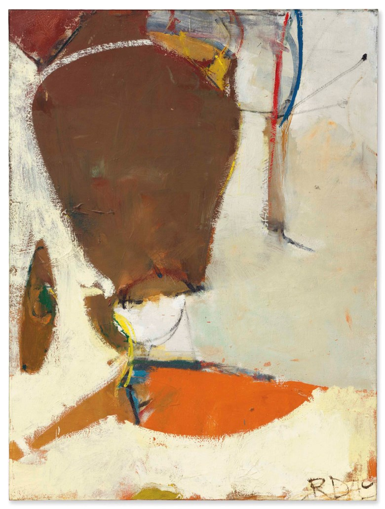 Richard Diebenkorn (1922-1993), Sausalito, 1949. 45⅜ x 34  in (115.2 x 86.3  cm). Estimate $500,000-700,000. Offered in Post-War and Contemporary Art Evening Sale on 17 May at Christie's in New York