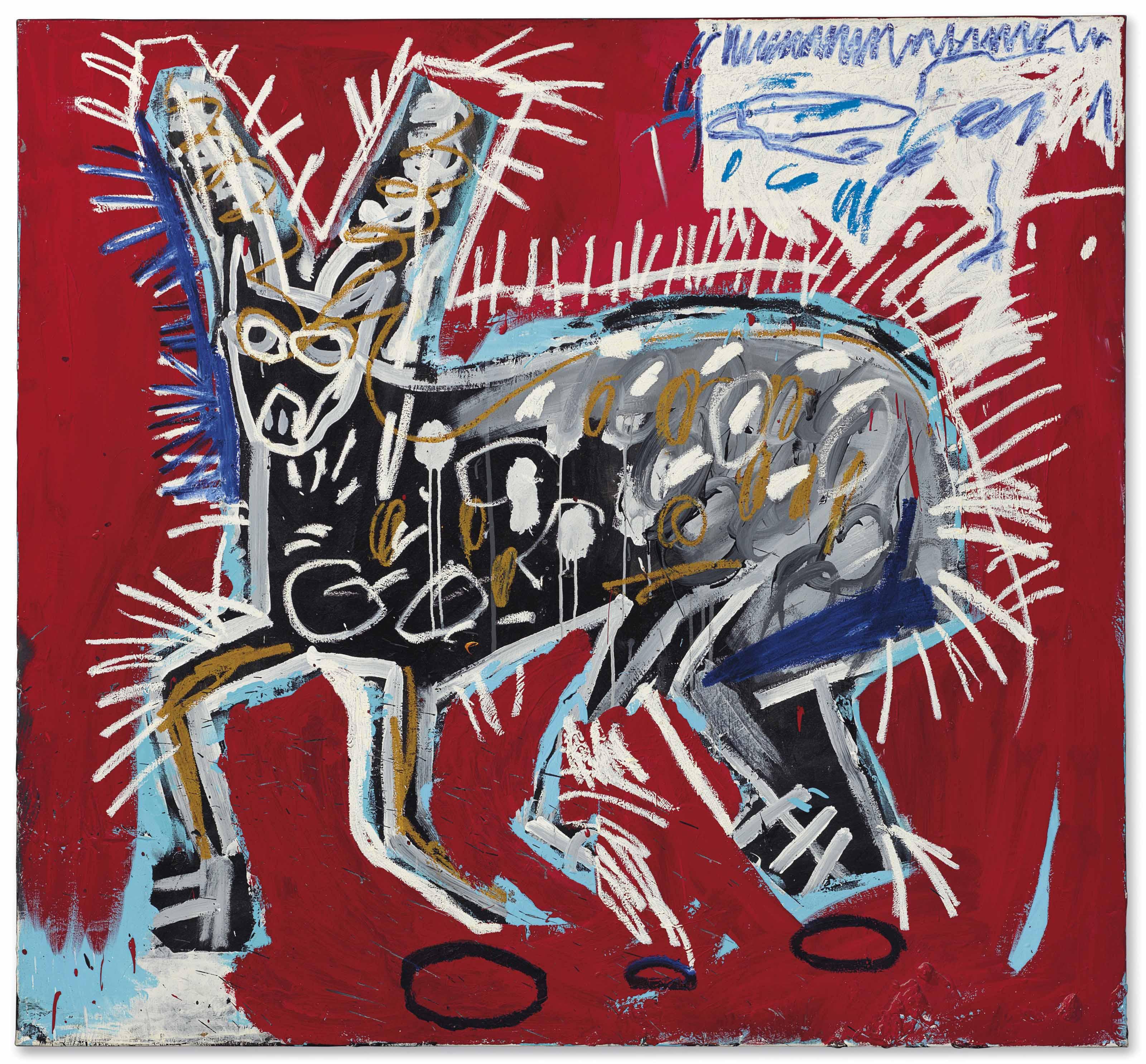 Jean Michel Basquiat 1960 1988 Red Rabbit 1980s