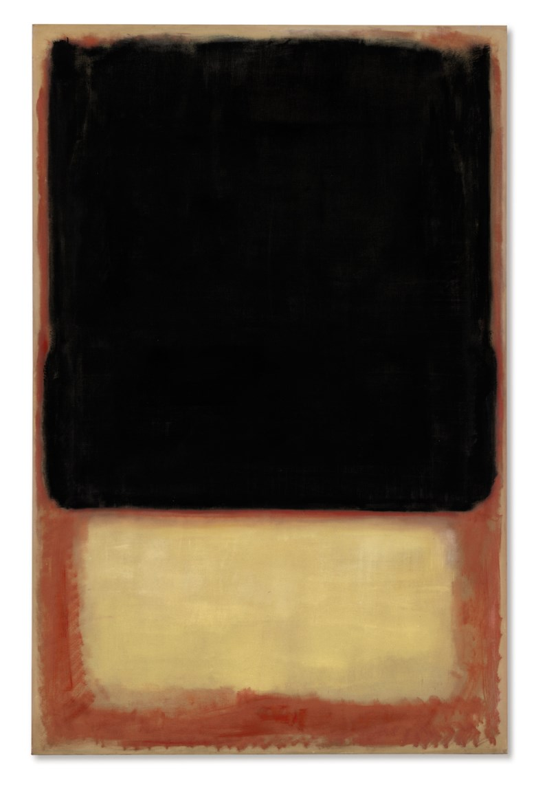 Mark Rothko (1903-1970), No. 7 (Dark Over Light), 1954. 90⅛ x 58⅝ in (228.8 x 148.8 cm). Sold for $30,687,500 in the Post-War and Contemporary Art Evening Sale on 17 May at Christie's in New York © 1998 Kate Rothko Prizel & Christopher Rothko  Artists Rights Society (ARS), New York