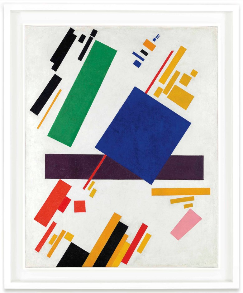 Kazimir Malevich (1878-1935), Suprematist Composition, 1916. 34⅞ x 28  in (88.7 x 71.1  cm). Sold for $85,812,500 on 15 May 2018 at Christie's in New York