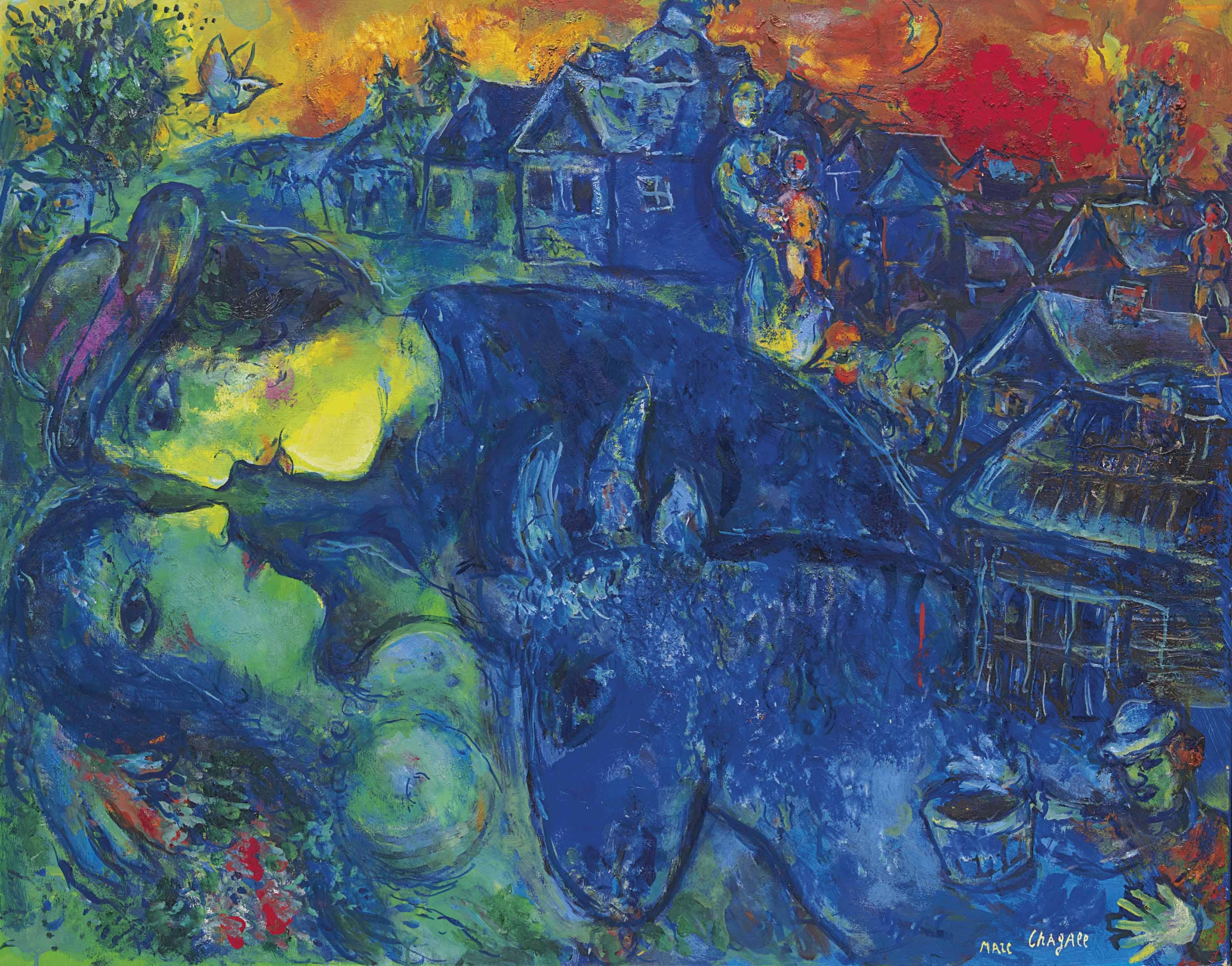 Le village bleu