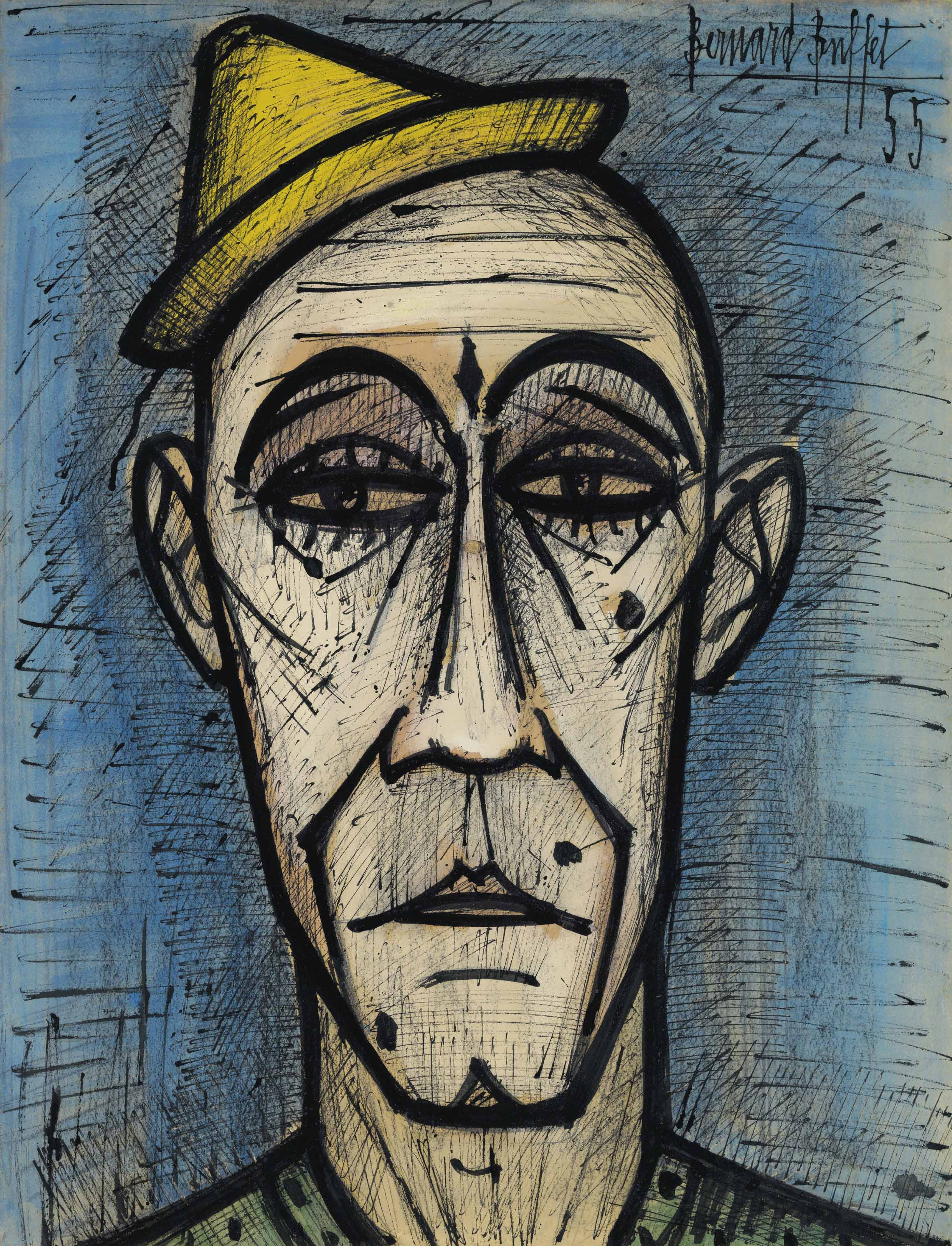 Bernard Buffet (1928-1999) , Tête de clown | Christie's