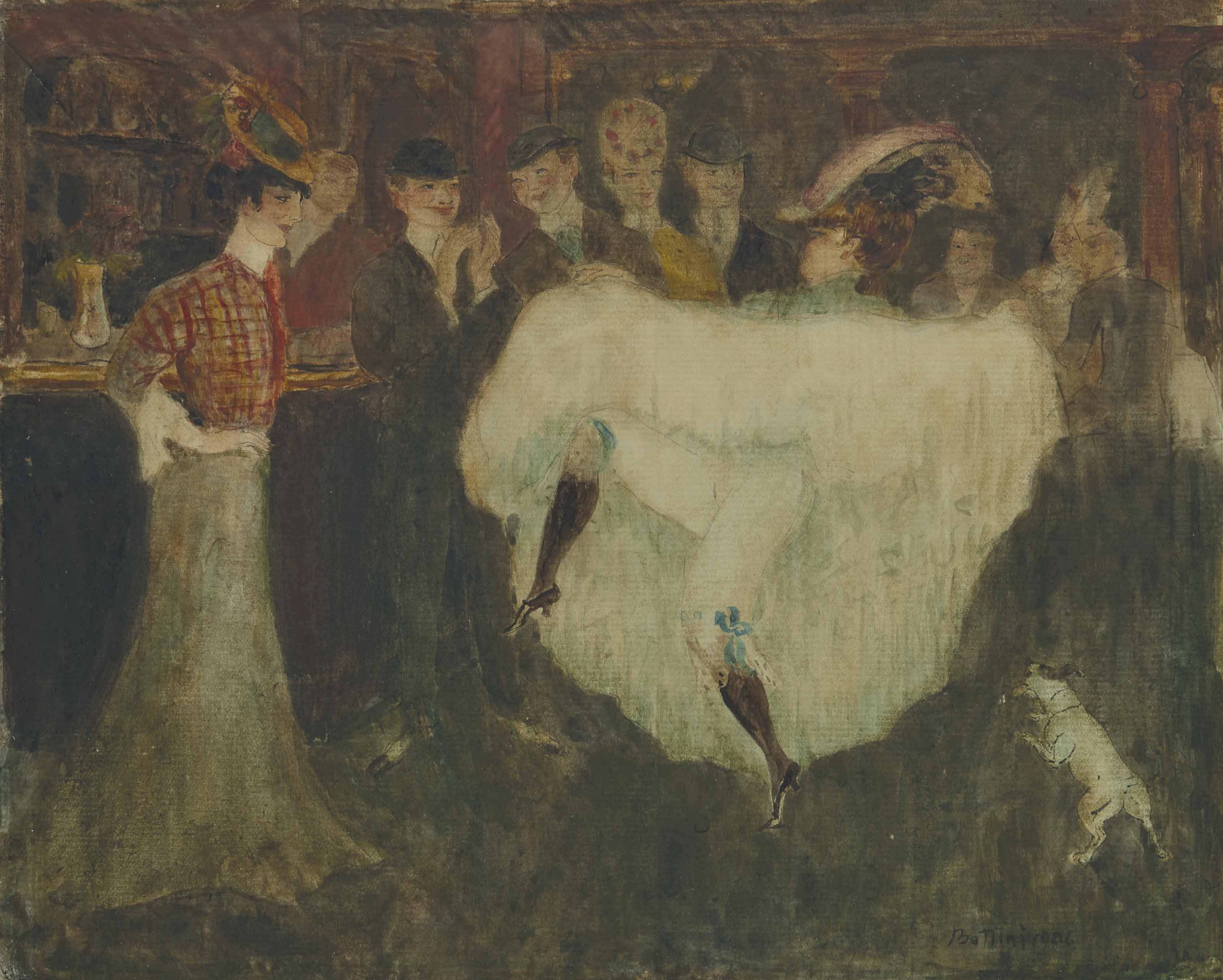 La Môme Picrate dansant au bar