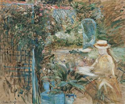 Berthe Morisot (1841-1895) , Fillette dans le jardin ...