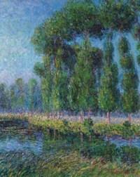 Peupliers au bord de l'Eure