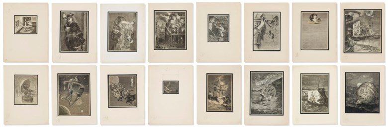 Joseph Cornell (1903-1972), Untitled (Story without a Name — for Max Ernst), executed circa 1934-1935. Smallest collage 2⅛ x 2¾  in (5.6 x 7  cm). Estimate $400,000-600,000. This lot is offered in Post-War and Contemporary Art Evening Sale on 15 November 2018 at Christie's in New York © The Joseph and Robert Cornell Memorial FoundationVAGA, NYDACS, London