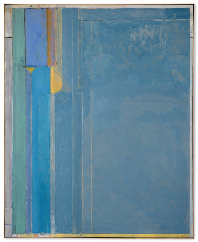 Richard Diebenkorn (1922-1993), Ocean Park #137, painted in 1985. Oil and charcoal on canvas. 100 x 81  in (254 x 205.7  cm). Estimate $18,000,000-22,000,000. This lot is offered in Post-War and Contemporary Art Evening Sale on 15 November 2018 at Christie's in New York. [Catalogue raisonné no. 4608] © Richard Diebenkorn Foundation