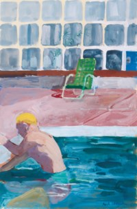Swimmer, Pool, Green Chair