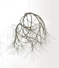 Untitled (S.330, Hanging Asymmetrical Tied-Wire Eight- Branched, Closed Center, Free-Form Based on Nature)