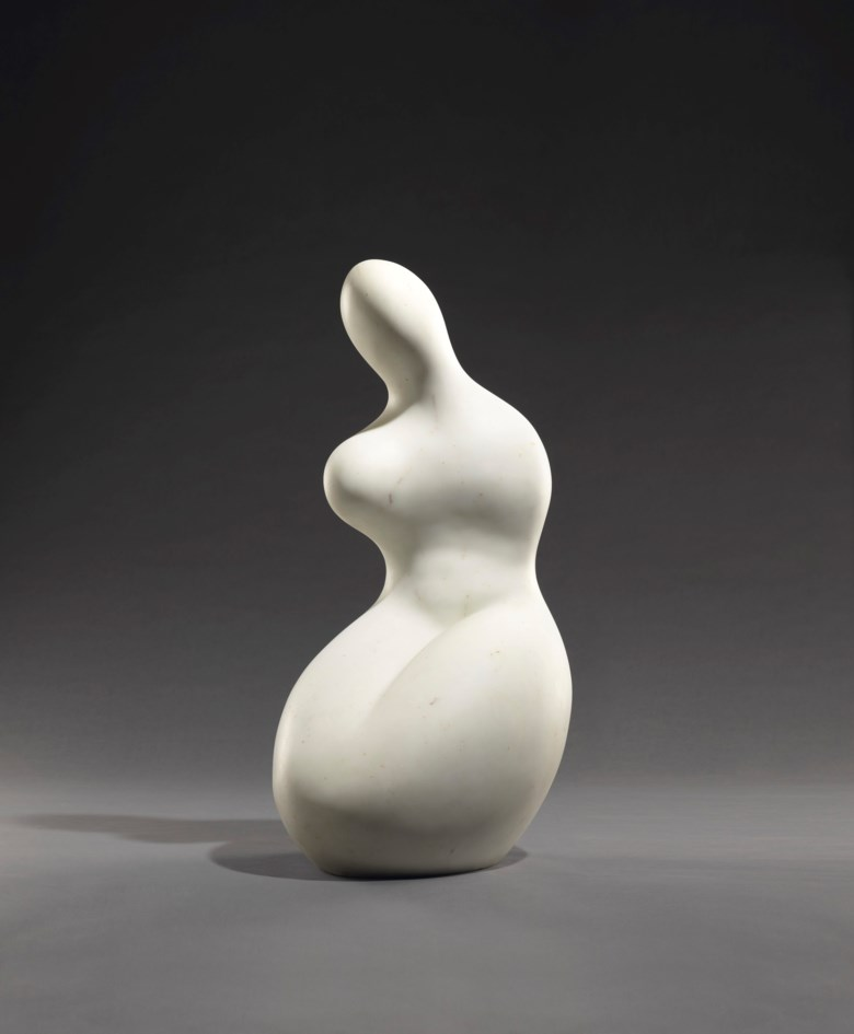Jean (Hans) Arp (1886-1966), Déméter, conceived and carved in 1961; unique. White marble. Height 39⅜ in (100 cm). Sold for $5,825,000 on 11 November 2018 at Christie's in New York. Artwork © DACS 2020