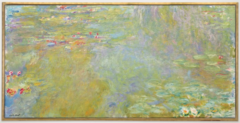 Claude Monet (1840-1926), Le bassin aux nymphéas, painted in 1917-1919. 39 ¾ x 79  in (100.7 x 200.8  cm). Sold for $31,812,500 on 11 November 2018 at Christie's in New York