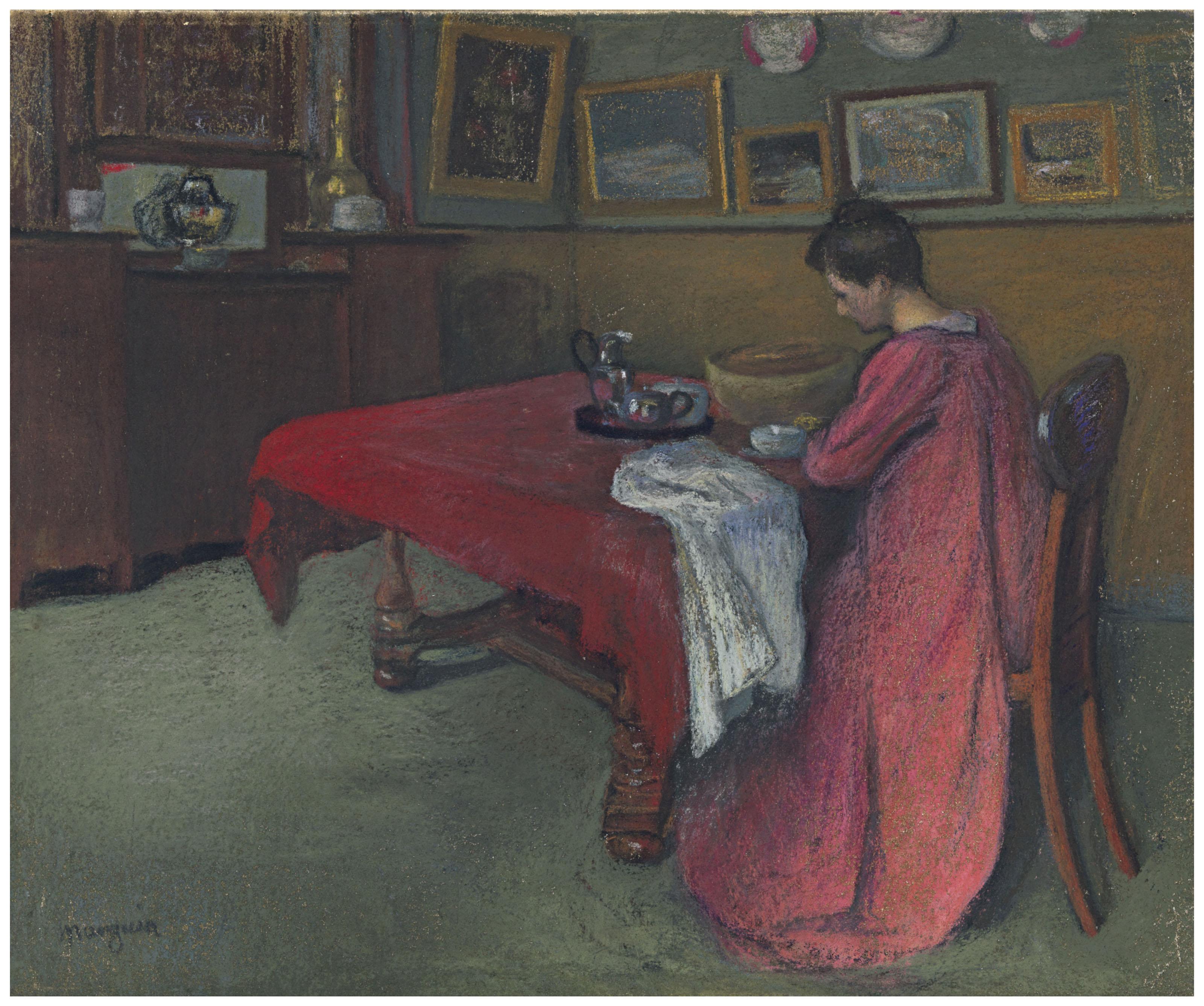 Rouge Dans Une Chambre henri manguin (1874-1949)   la robe de chambre rouge   20th