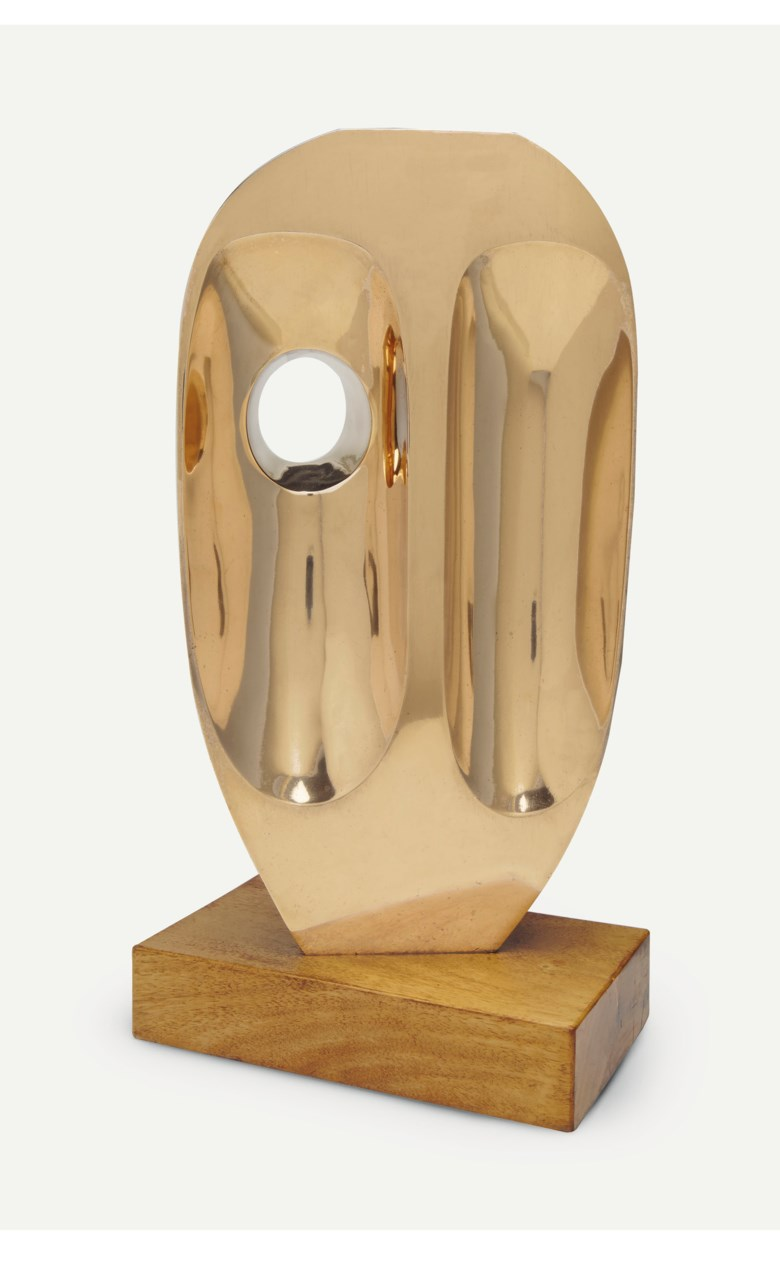 Barbara Hepworth (1903-1975), Vertical Form (St Ives), conceived and cast in 1969. Height 18½  in (47  cm). Estimate $250,000-350,000. This lot is offered in Impressionist and Modern Art Day Sale on 12 November 2018 at Christie's in New York