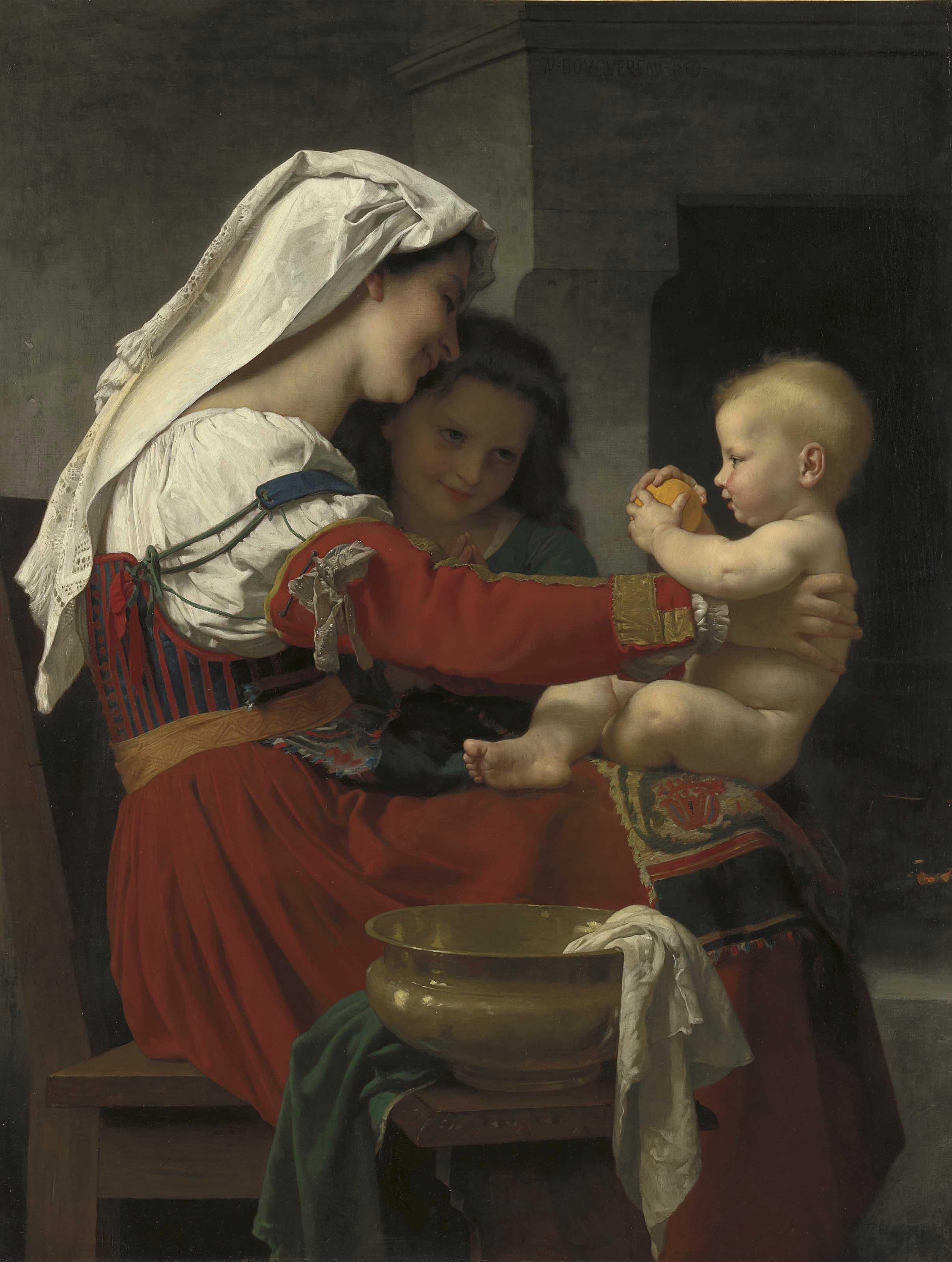 Admiration maternelle - le bain