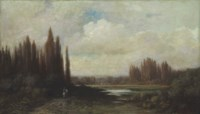 Landscape with a Rider by a Pond
