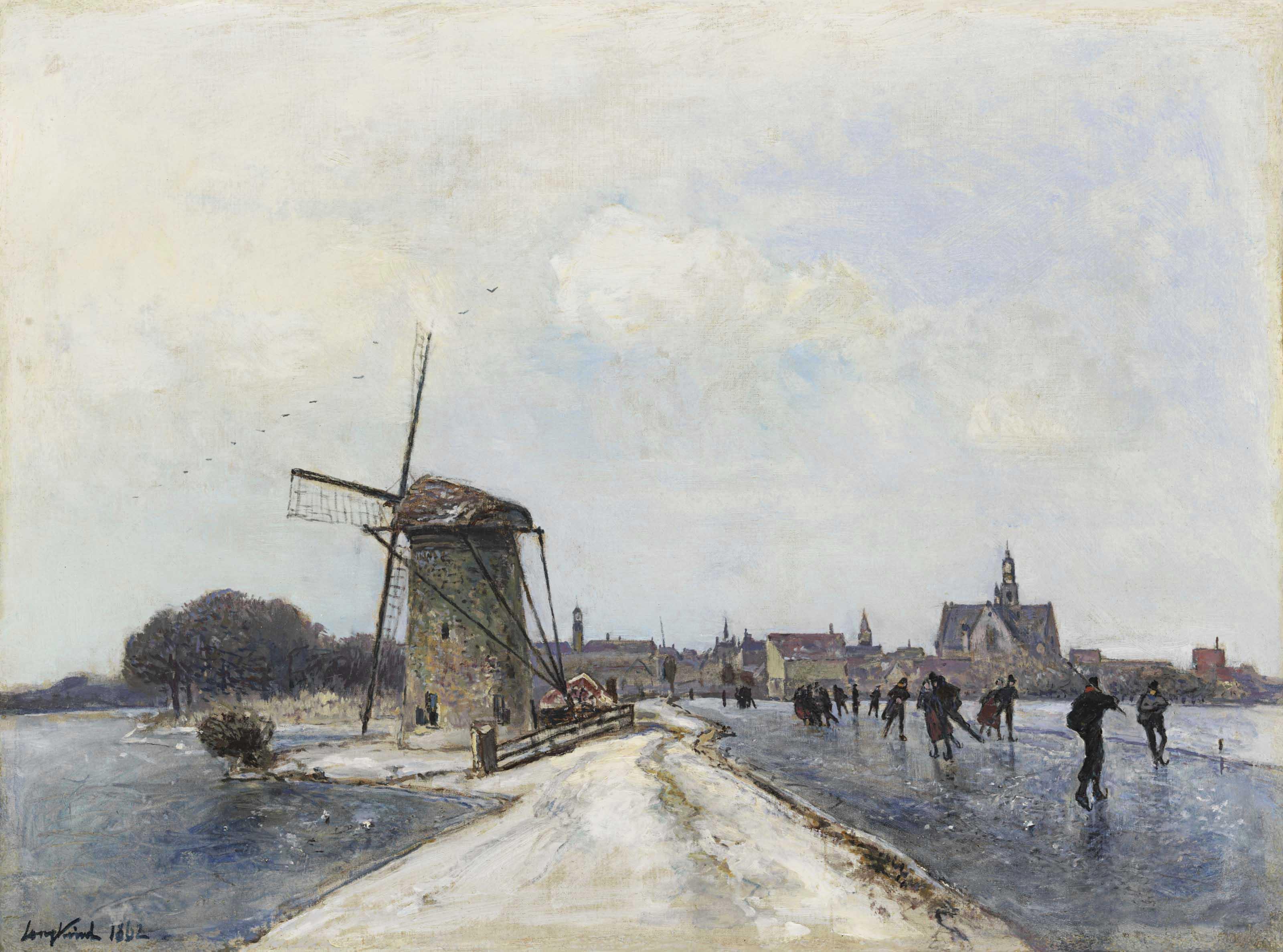 Patineurs à Maassluis