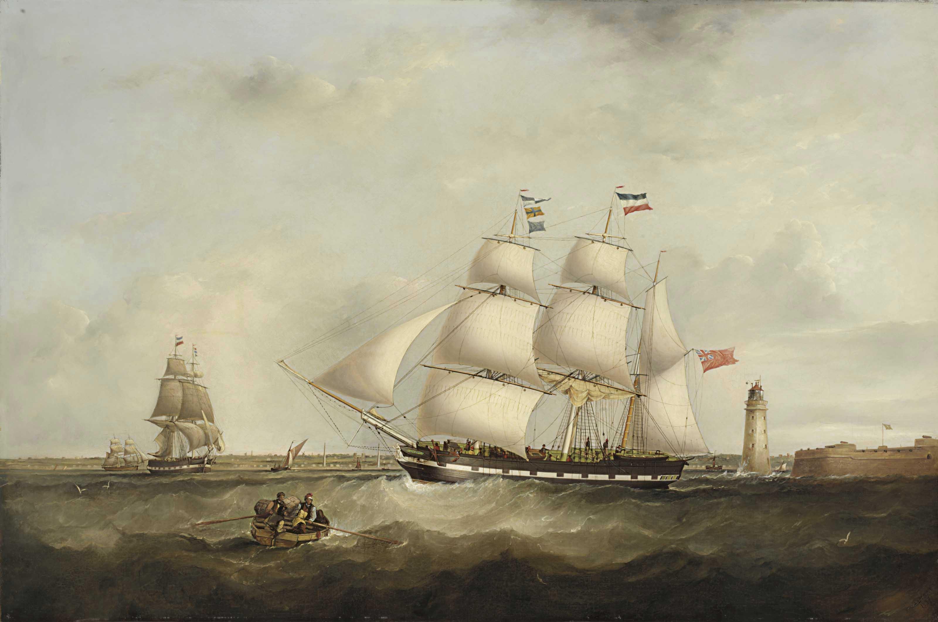 The 'Gazelle' entering the Mersey
