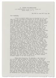 HUBBARD, L. Ron (1911-1986). A