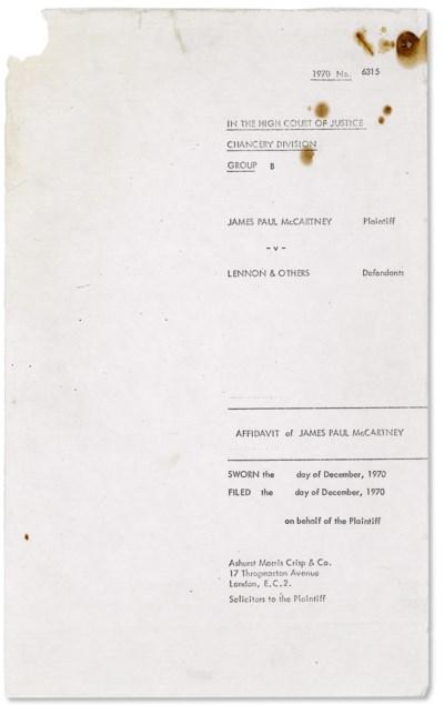 McCARTNEY, Paul (b. 1942), LEN