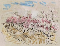 Peach Trees in Blossom, Saddle River District, New Jersey No. 1