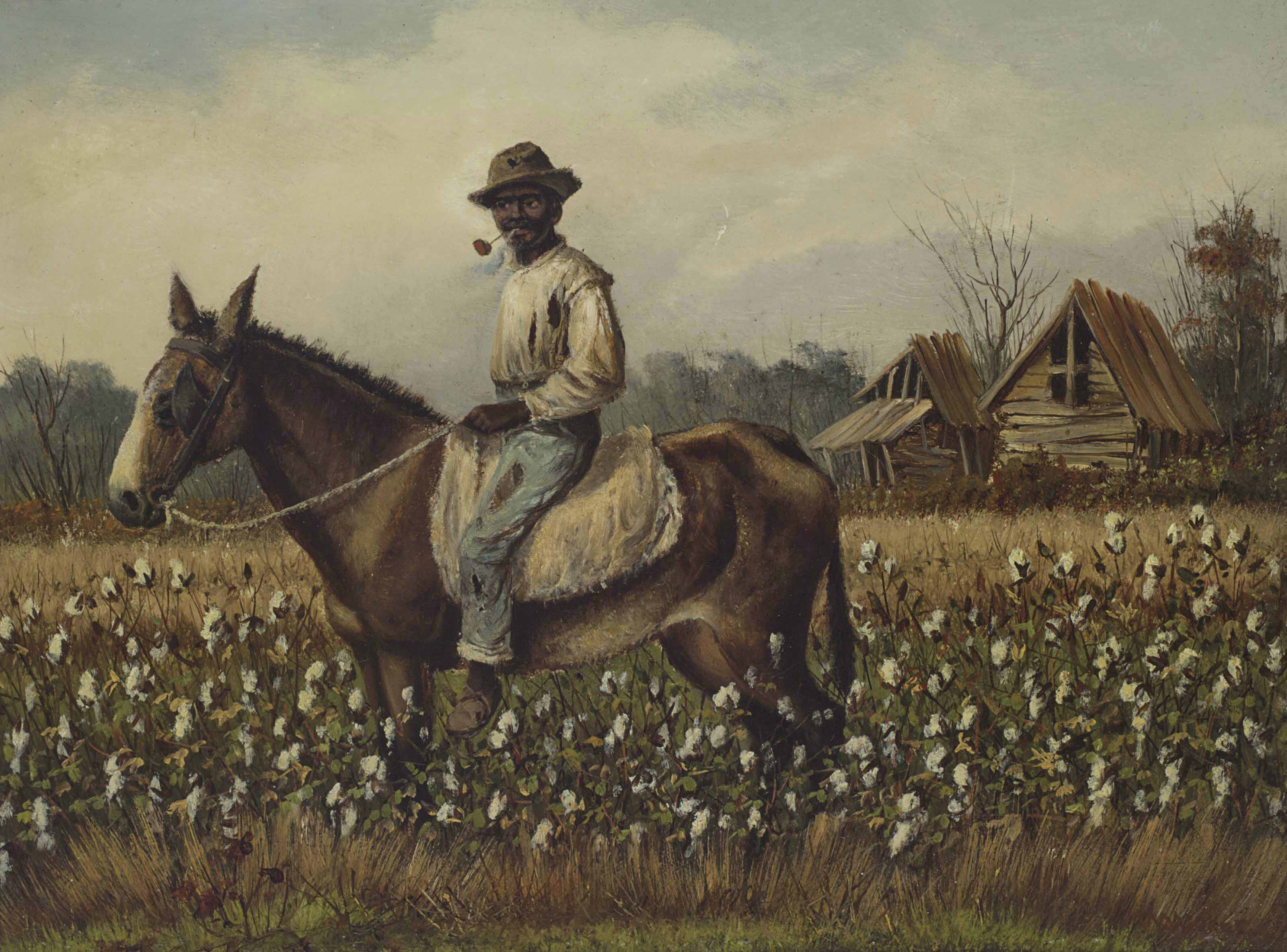 Man with Pipe on a Horse