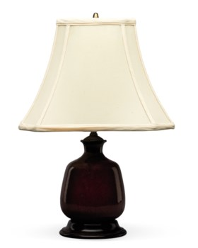 ACOPPER RED-GLAZED VASE, MOUNTED AS A LAMP
