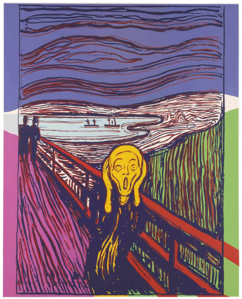 Andy Warhol (1928-1987), The Scream (After Munch). Estimate $300,000-500,000. This lot is offered in Prints and Multiples on 19-20 April at Christie's in New York