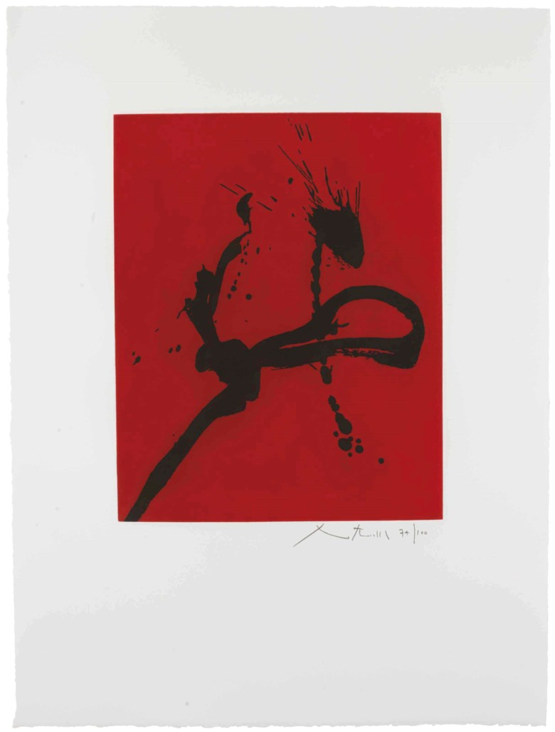 Robert Motherwell (1915-1991), Gesture IV (State I). Sheet 35 x 26  in (889 x 660  mm). Estimate $10,000-15,000. This lot is offered in Prints and Multiples on 19-20 April at Christie's in New York